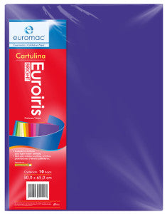 Cartulina Reflect 50x65 178 gr. Azul Ultramar C/10