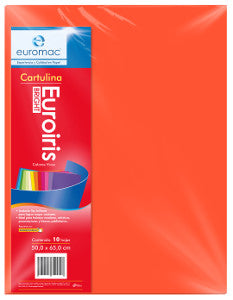 Cartulina Reflect 50x65 178 gr. Naranja C/10