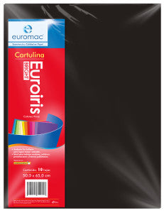 Cartulina Reflect 50x65 178 gr. Negro C/10