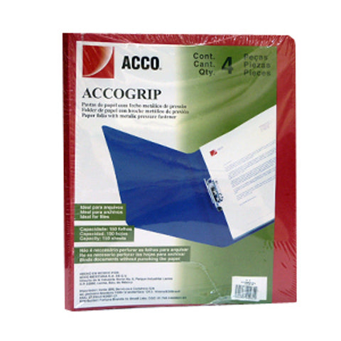 Folder Palanca Accogrip Carta C/4 Rojo