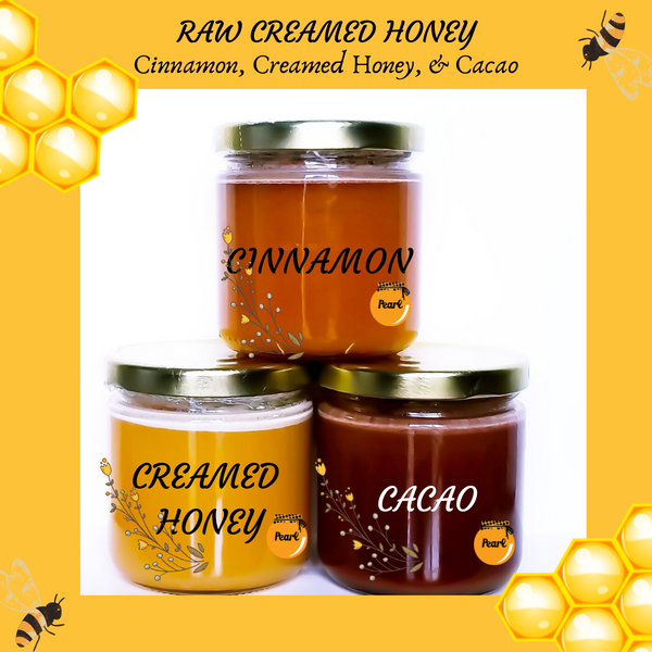 Raw Creamed Honey Trio