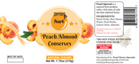 Peach Almond Conserves - Pearl-HONEY SPREADS