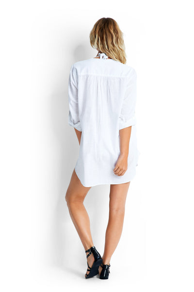 Beach Basics Boyfriend Beach Shirt OVERSWIM SEAFOLLY