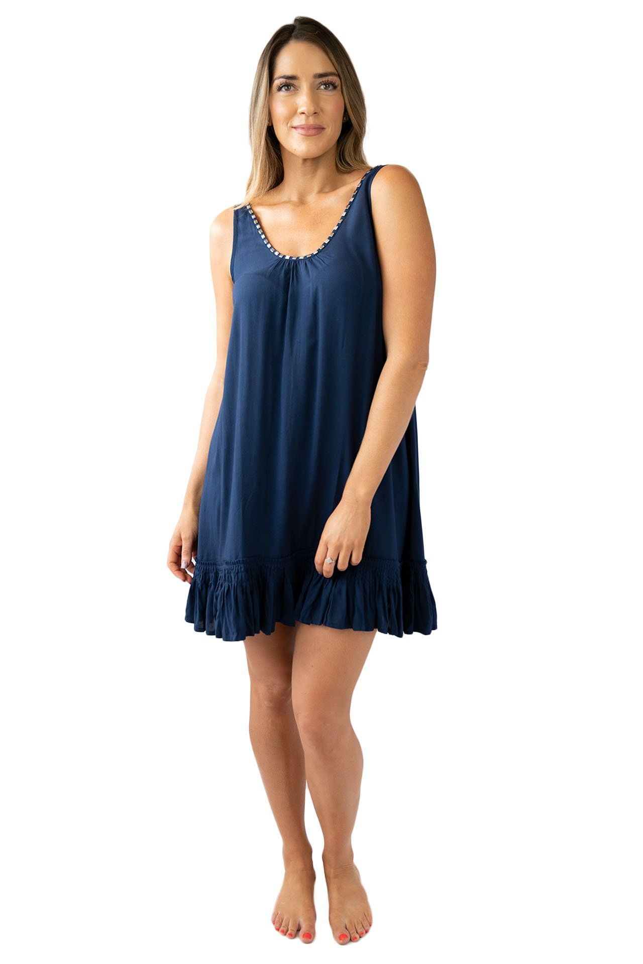 Bella Beach Dress OVERSWIM LOVE LILY S/M Navy