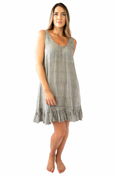 Bella Beach Dress Stripes OVERSWIM LOVE LILY S/M Olive