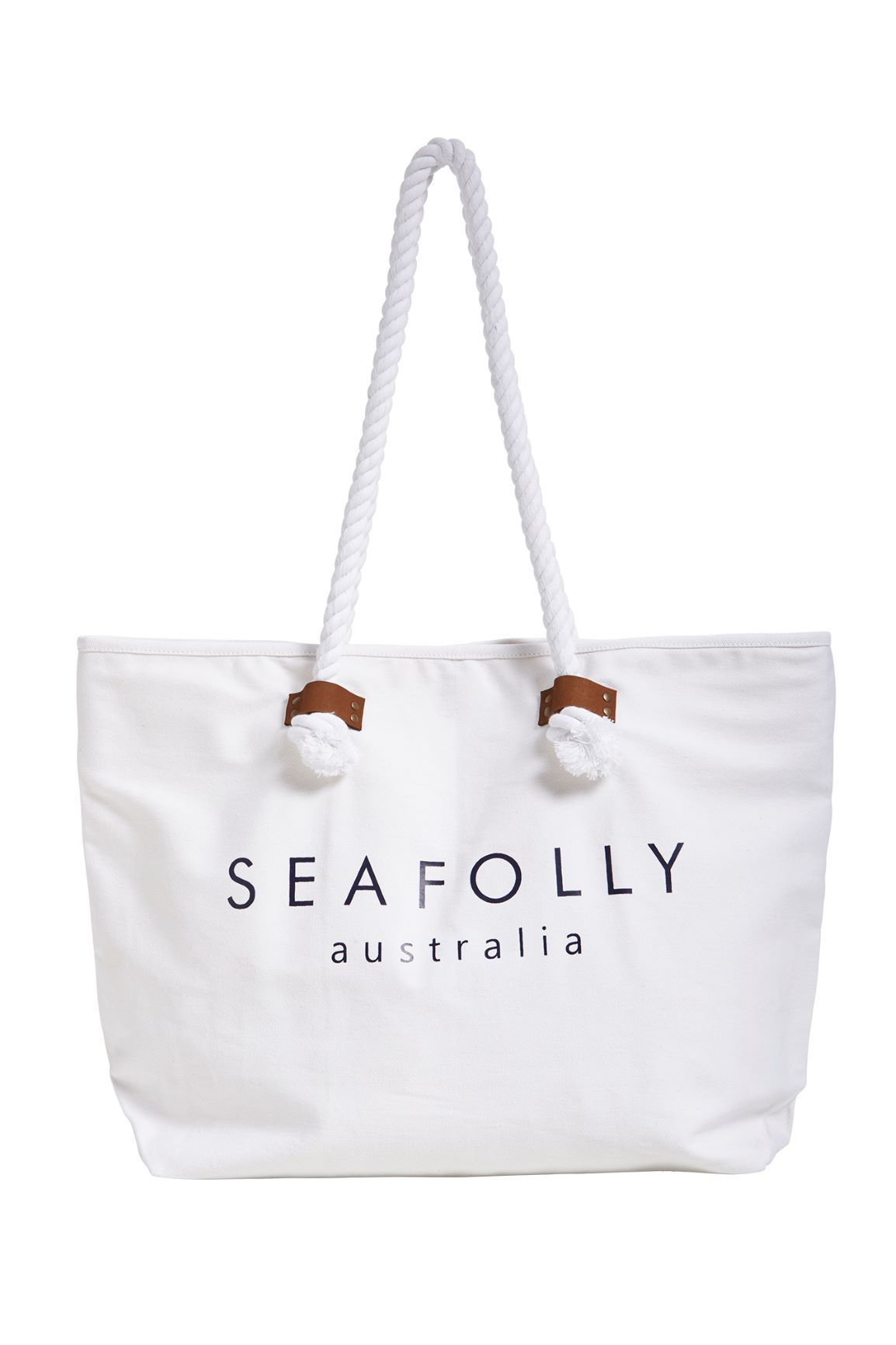 Carried Away Ship Sail Tote BAGS SEAFOLLY OS White