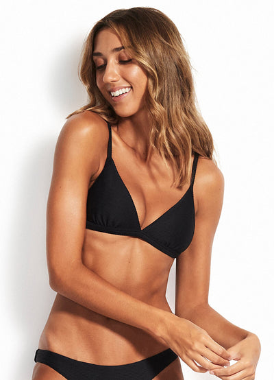 Essentials Fixed Tri Bra SWIM TOP SEAFOLLY 8 BLACK