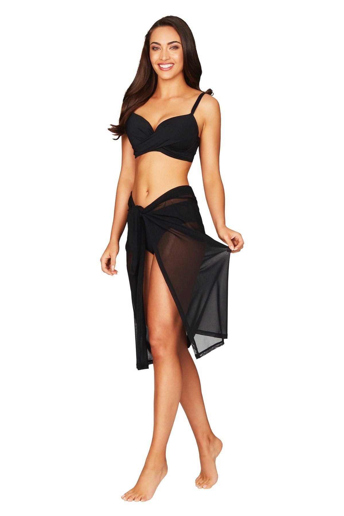Essentials Mesh Swim Wrap SARONG SEA LEVEL