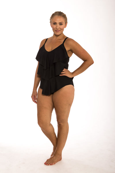 It's All About Black 3 Tier 1Pc SWIM 1PC CAPRIOSCA