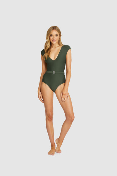Rococco Belt One Piece SWIM 1PC BAKU 8 OLIVE