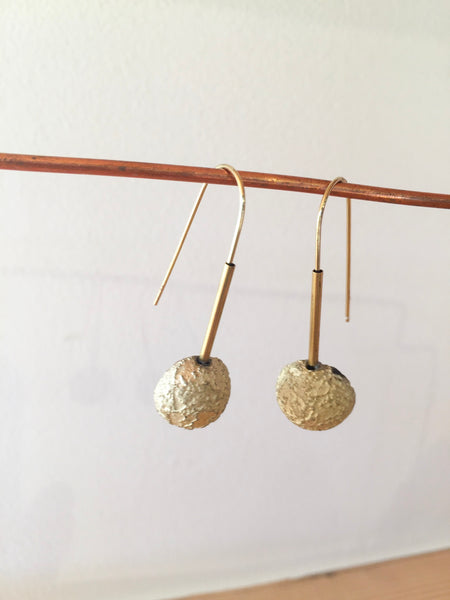 Dome Gold Earrings