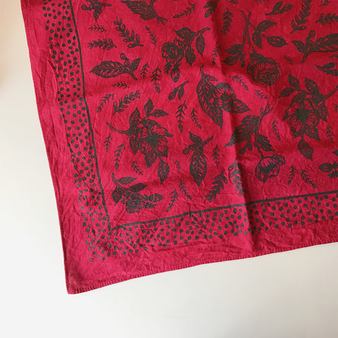 Floral Bandanna in Pomegranate