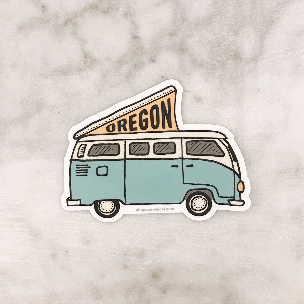 Oregon VW Bus Sticker