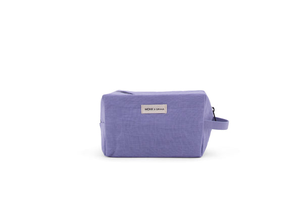 Linen Toiletry Bag in Lilac
