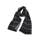 Gray & Black Reversible Scarf