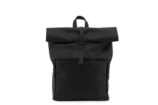 Herb Backpack in Black Vegan Leather
