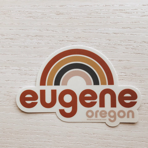 Eugene Rainbow Sticker