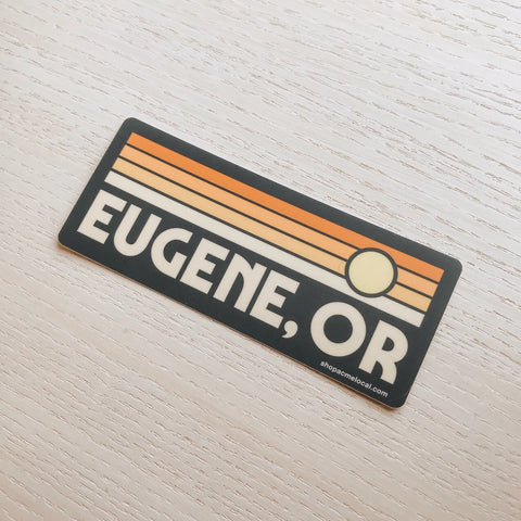 Eugene Sunset Sticker