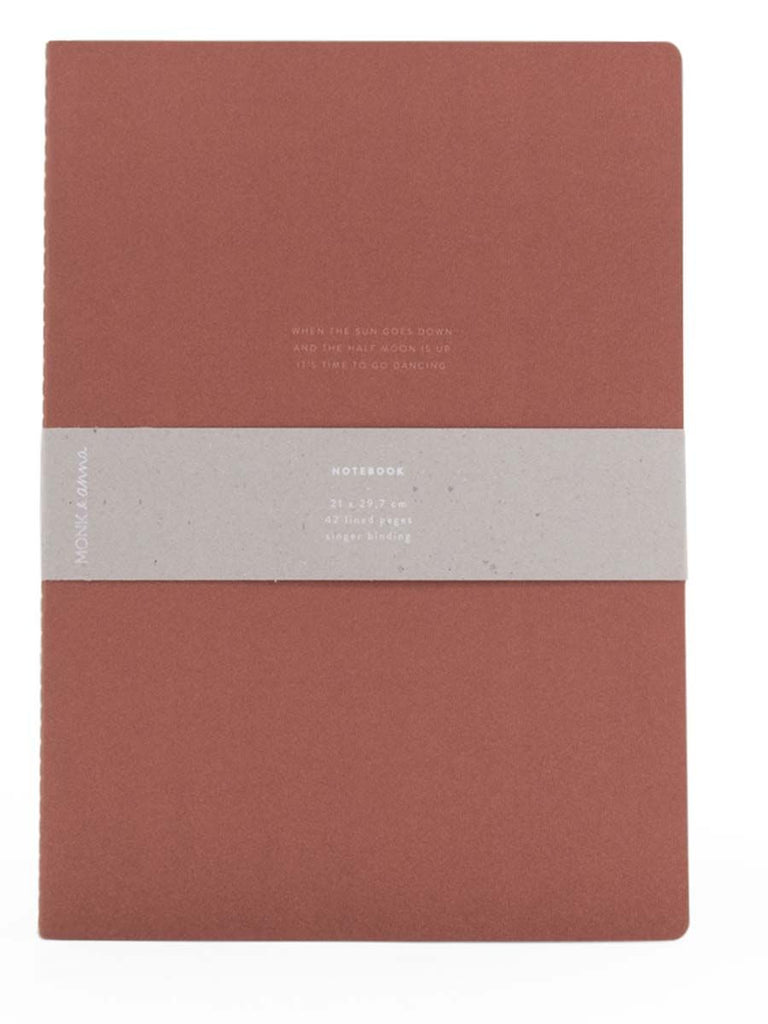 Quote XL Notebook in Brick Red
