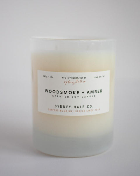 Woodsmoke and Amber Candle