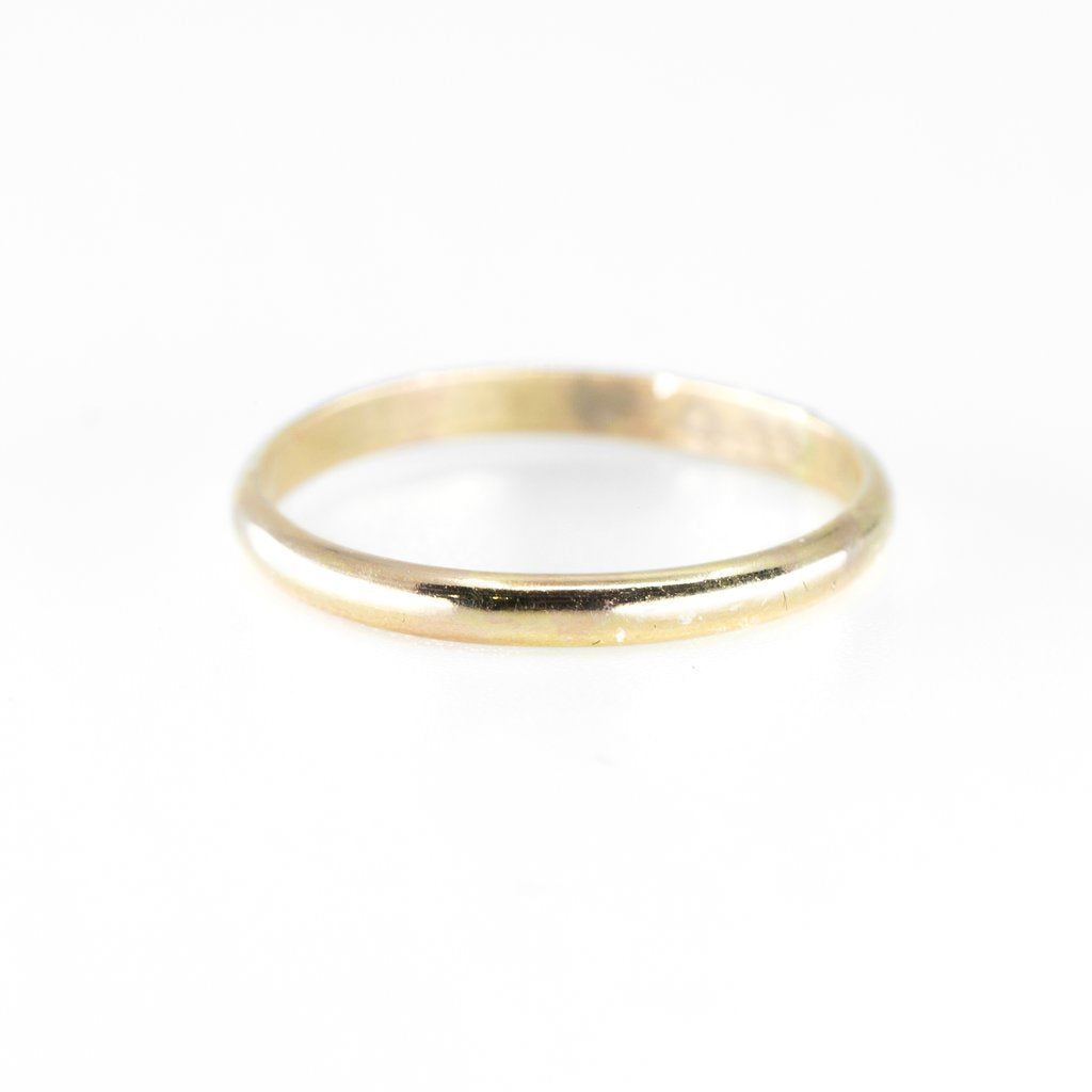 Thick Gold Half Round Ring