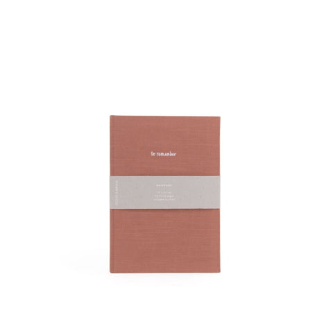 To Remember Notebook in Brick Red