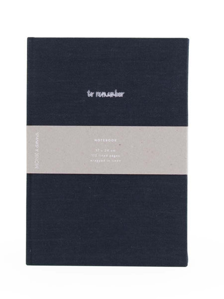 To Remember Notebook in Midnight Blue