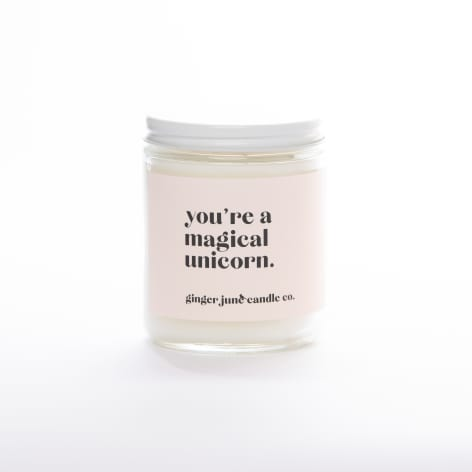 You're a Magical Unicorn Candle