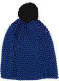 Chunky Knit Beanie in Cobalt