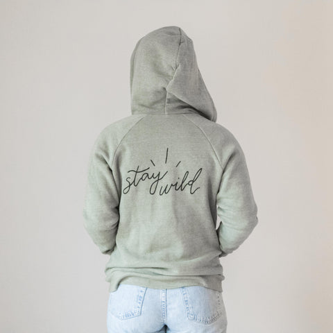 Stay Wild Hoodie in Green