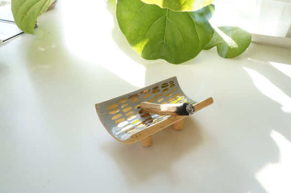 Gray + Gold Palo Santo Tray