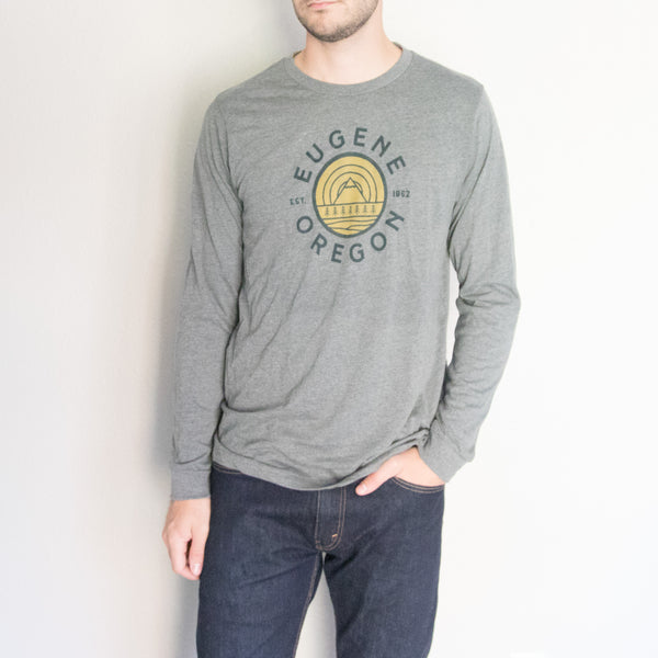 Eugene Oregon Mountain Long Sleeve Shirt