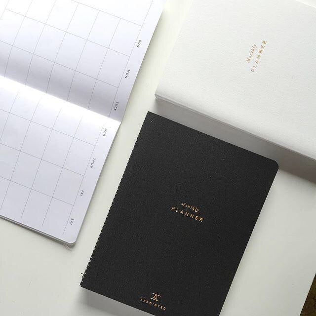 Monthly Planner in Charcoal Gray