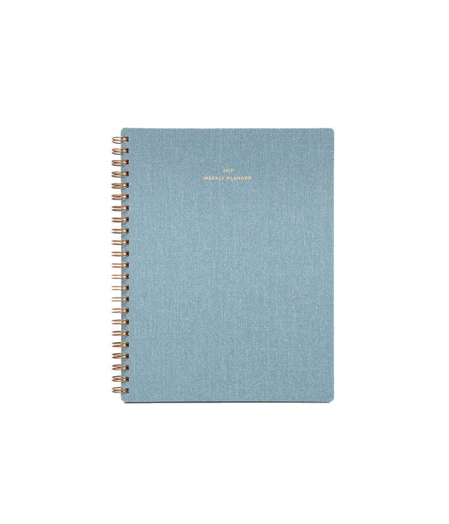 Weekly Notebook Planner in Chambray Blue