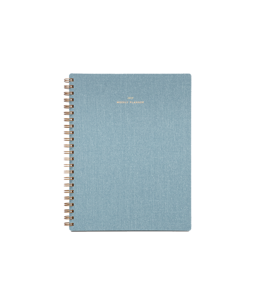 2020 Weekly Notebook Planner in Chambray Blue