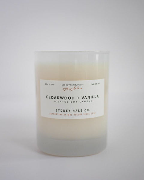 Cedarwood and Vanilla Candle