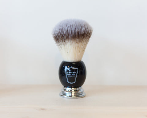 Black Synthetic Bristle Shaving Brush
