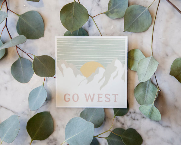 Go West Sticker