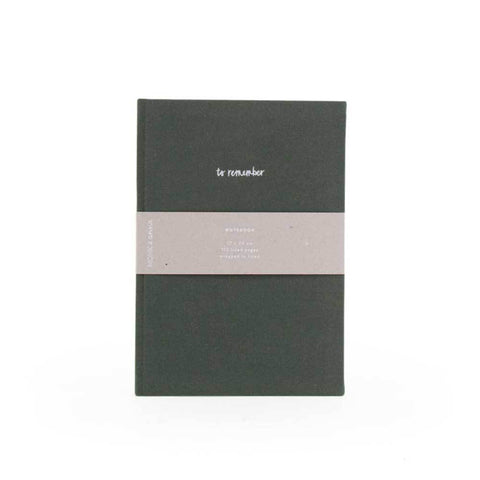 To Remember Notebook in Pine Green