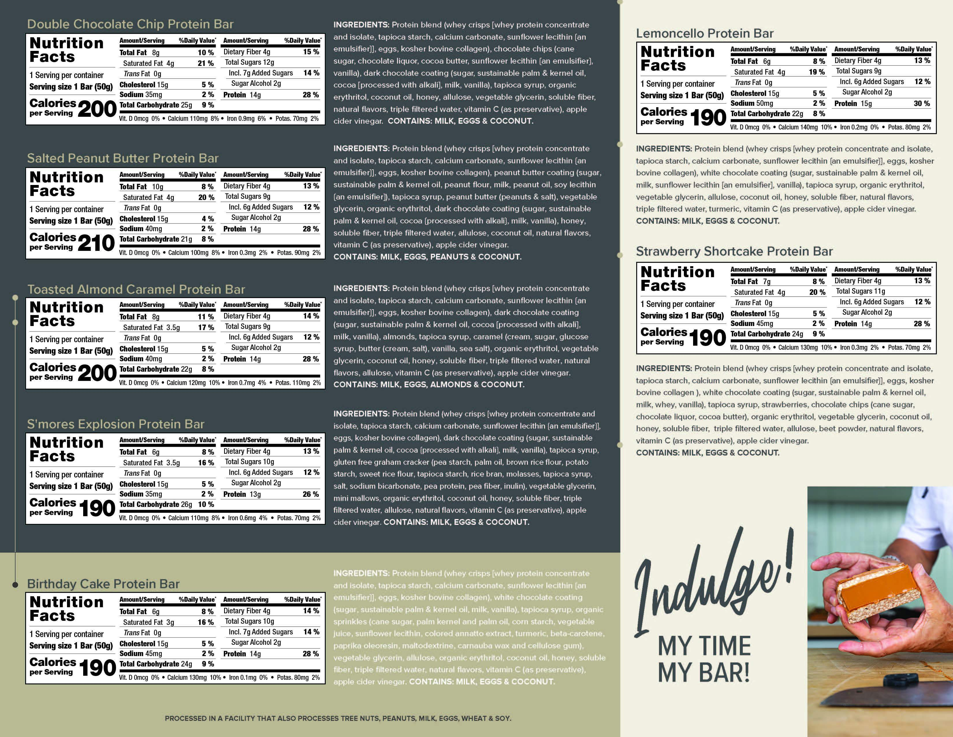The Gourmet Sampler nutrition facts