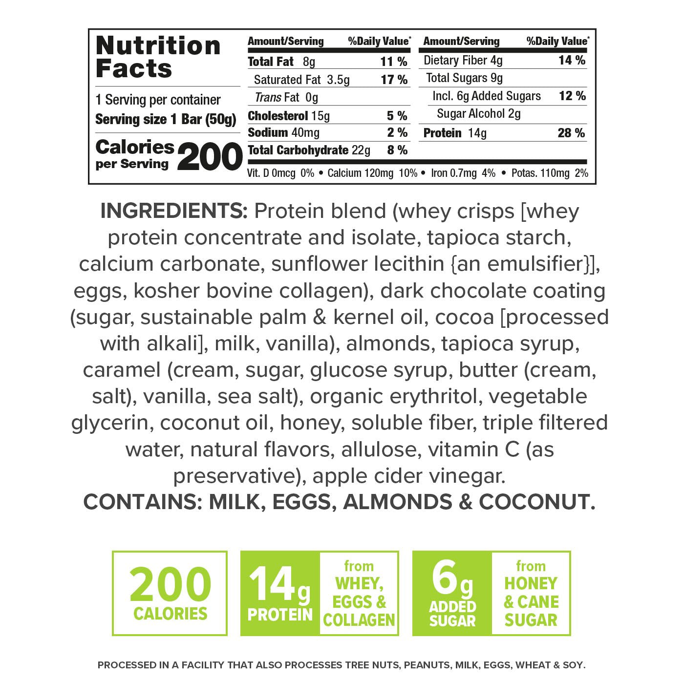 Gourmet Toasted Almond Caramel nutrition facts