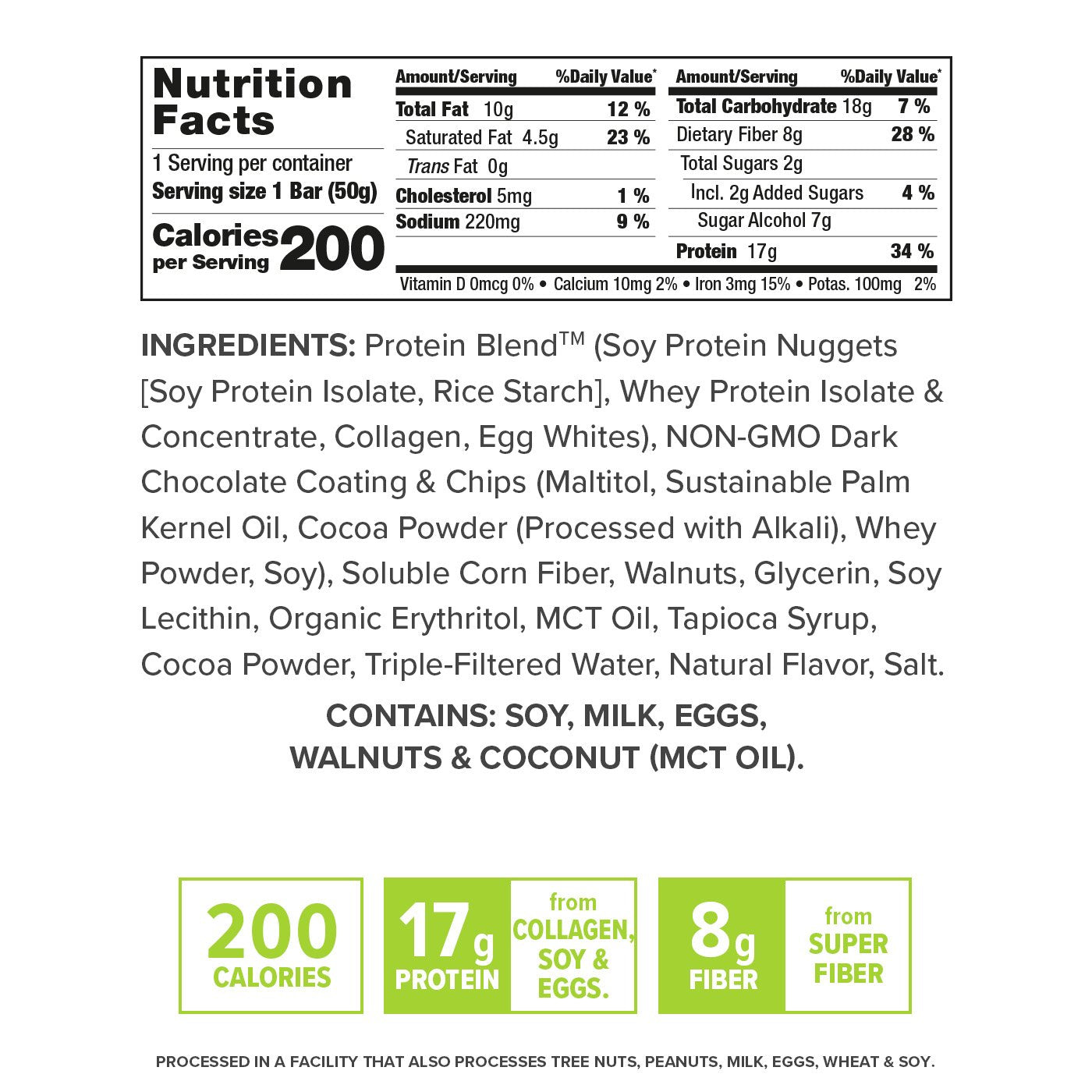 Keto Triple Chocolate nutrition facts