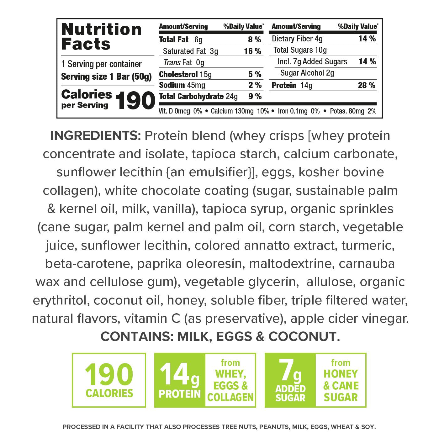 Gourmet Birthday Cake nutrition facts