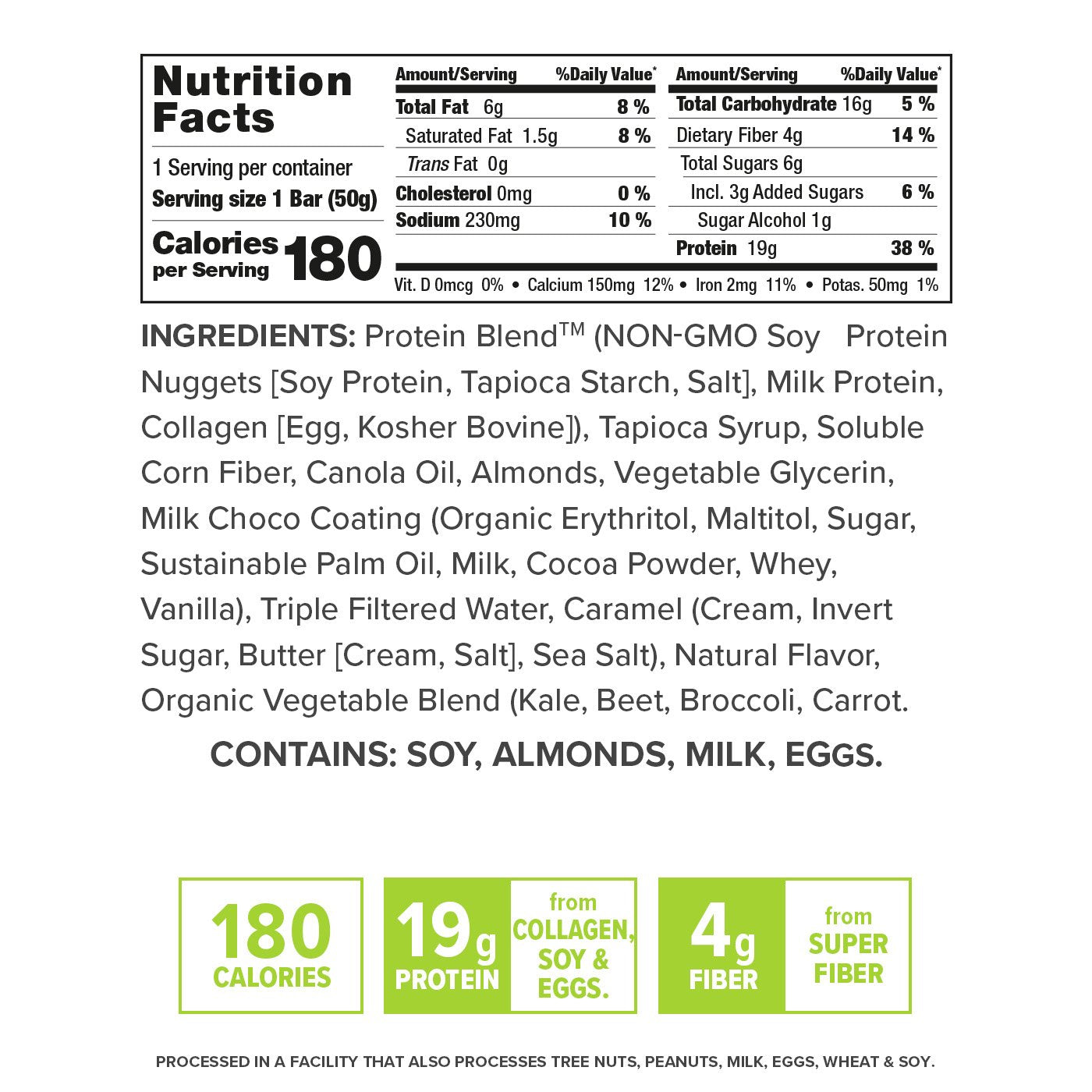Caramel Almond nutrition facts