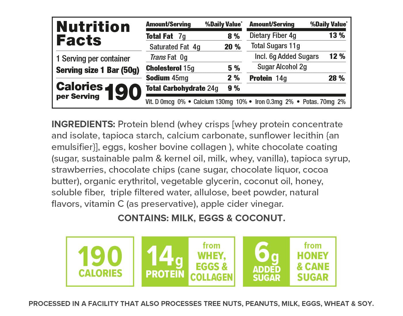 Gourmet Strawberry Shortcake nutrition facts