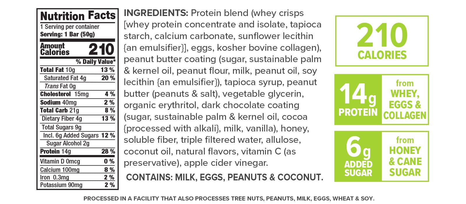 Gourmet Salted Peanut Butter nutrition facts
