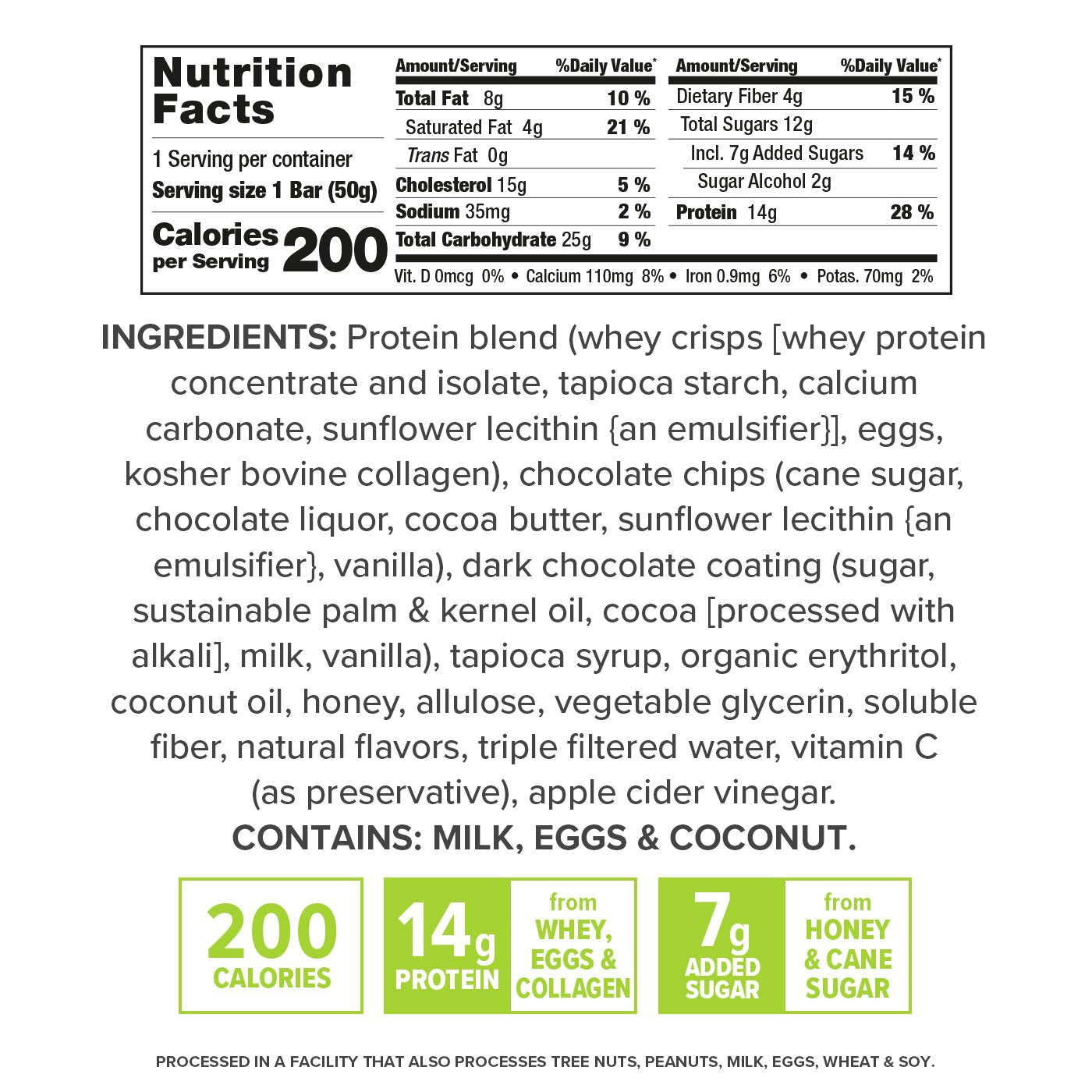 Gourmet Double Chocolate Chip nutrition facts