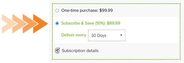 Select subscribe and save