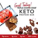 Keto Triple Chocolate Protein Bar
