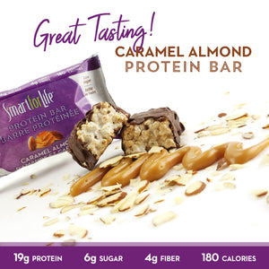 Low Sugar Caramel Almond Protein Bars - Smart for Life Cookie Diet
